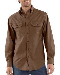 Carhartt Fort Long Sleeve Shirt, Dark Brown, hi-res