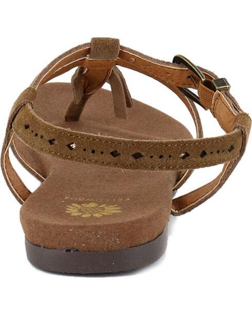 Yellow Box Women's Carob Fringe Sandals, Chestnut, hi-res