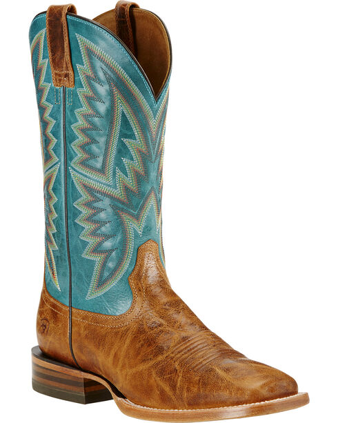 Ariat Men's Hesston Western Boots, Tan, hi-res