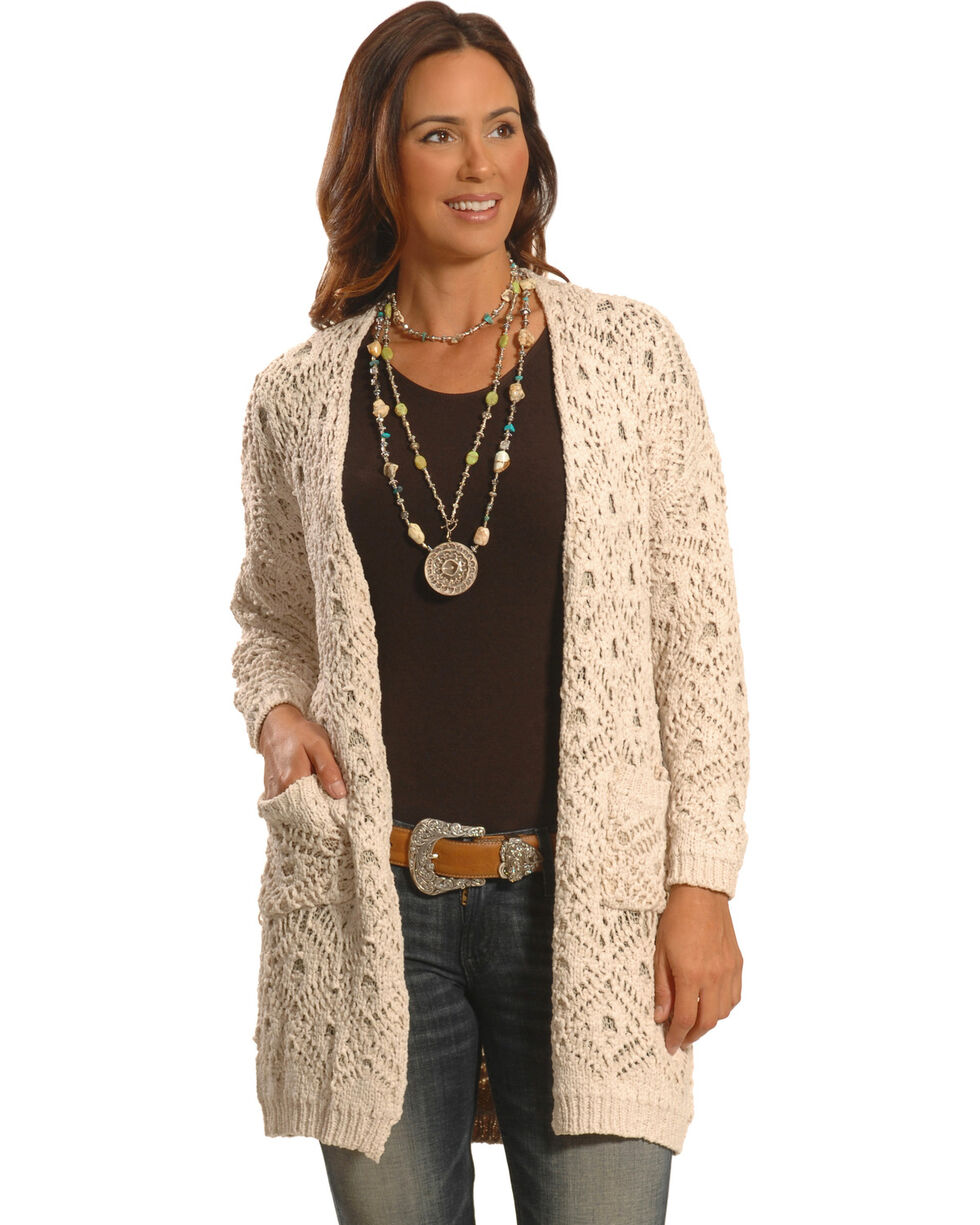 Petrol Women's Cream Knitted Wrap , , hi-res