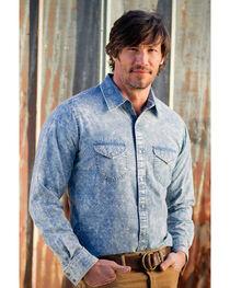 Ryan Michael Men's Long Sleeve Telegraph Indigo Shirt, , hi-res