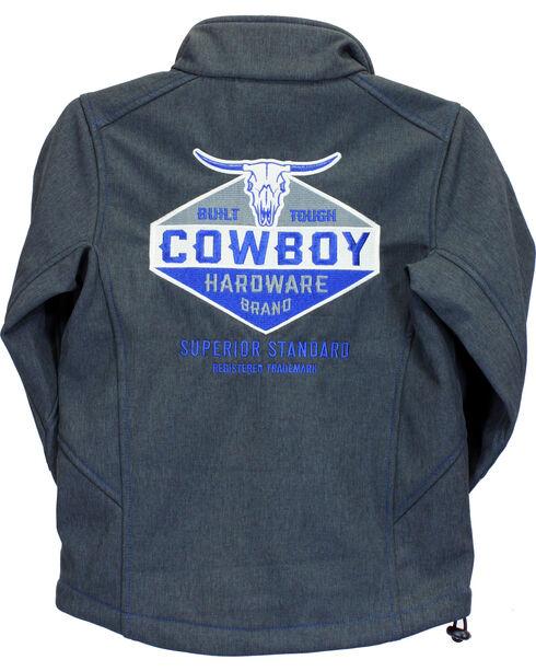 Cowboy Hardware Boys' Charcoal Built Tough Jacket , Charcoal, hi-res