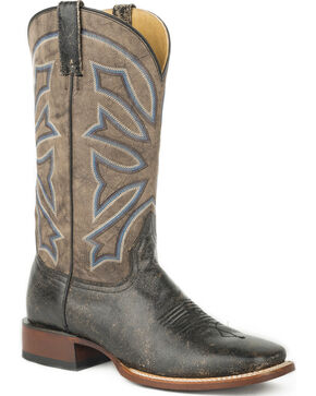 Stetson Men's Gunsmoke Western Boots - Square Toe , Black, hi-res