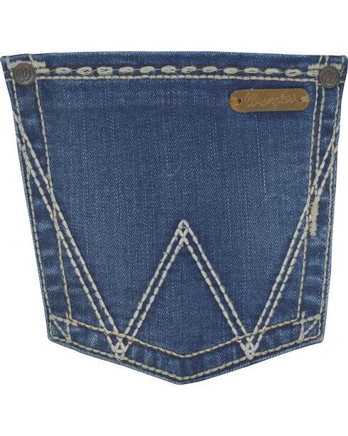 Wrangler Women's Indigo Retro Mae Simple Pocket Jeans - Boot Cut , Indigo, hi-res