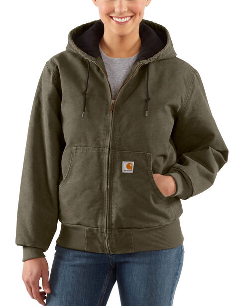 Carhartt Women's Sandstone Active Jacket, Forest Green, hi-res