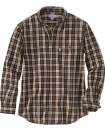 Carhartt Men's Black Fort Long-Sleeve Plaid Shirt , , hi-res