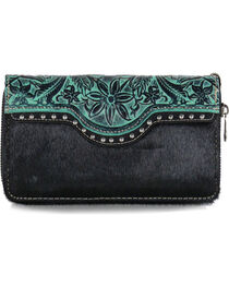 Trinity Ranch Women's Floral Tooled Wallet, , hi-res