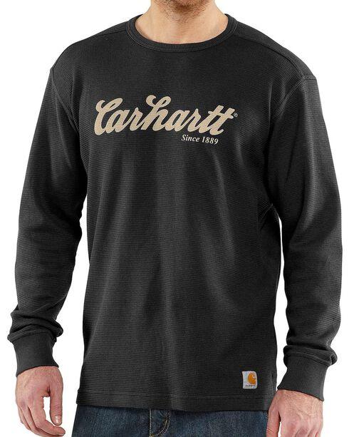 Carhartt Men's Long Sleeve Graphic Print Shirt, Black, hi-res