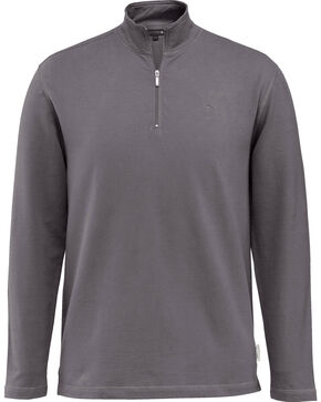 Wolverine Men's Benton 1/4 Zip Long Sleeve Shirt, Dark Grey, hi-res