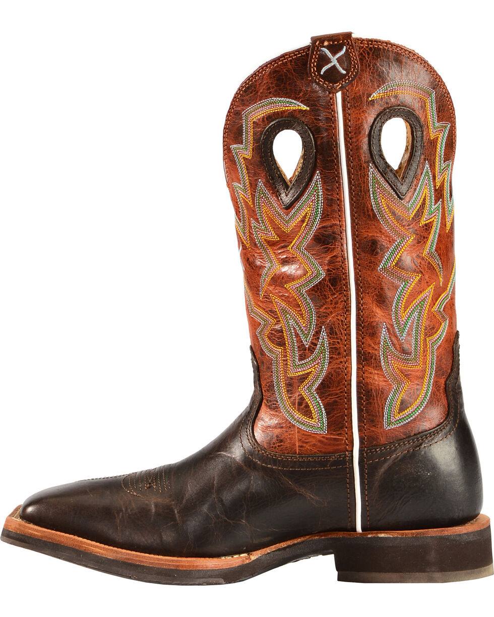 "Twisted X Men's Horseman 12"" Western Boots, Chocolate, hi-res"