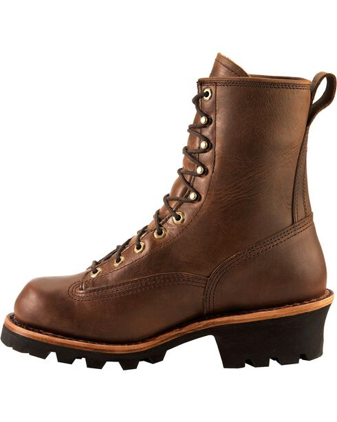 Chippewa Men's Waterproof Logger Work Boots, Bay Apache, hi-res
