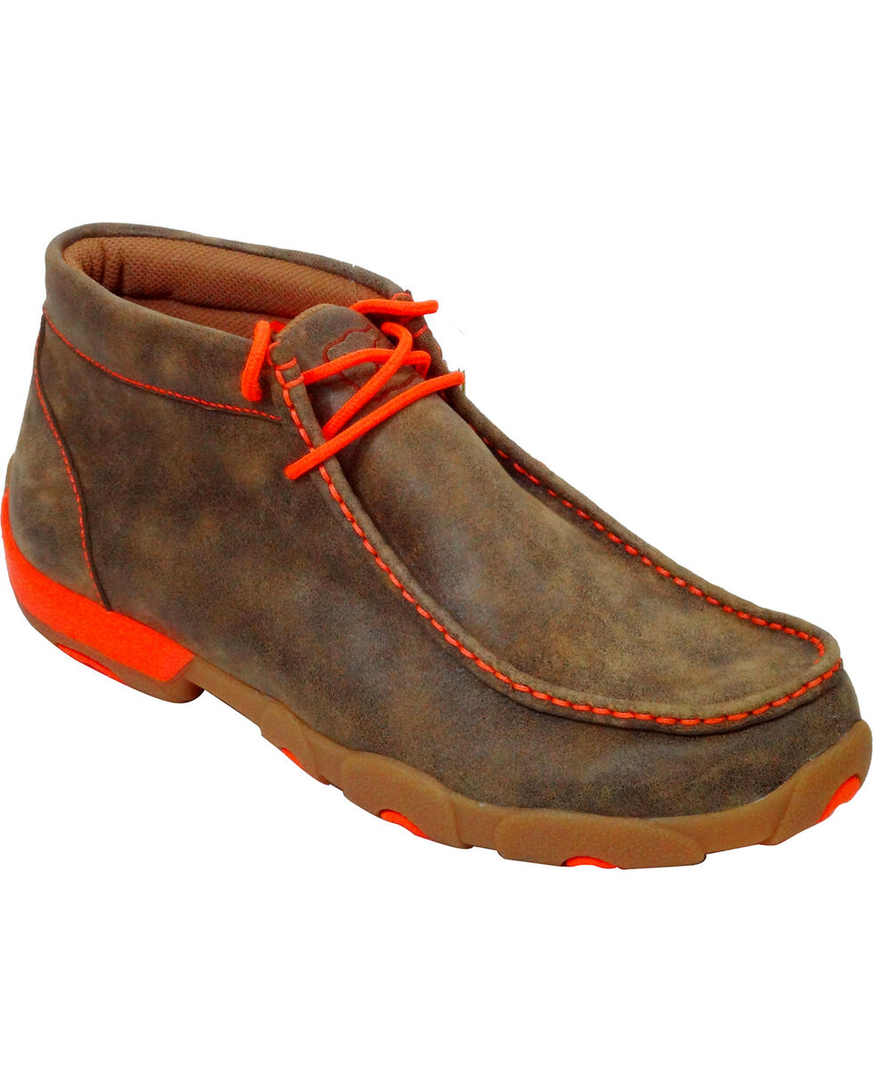 Twisted X Men's Lace Up Driving Mocs, Brown, hi-res