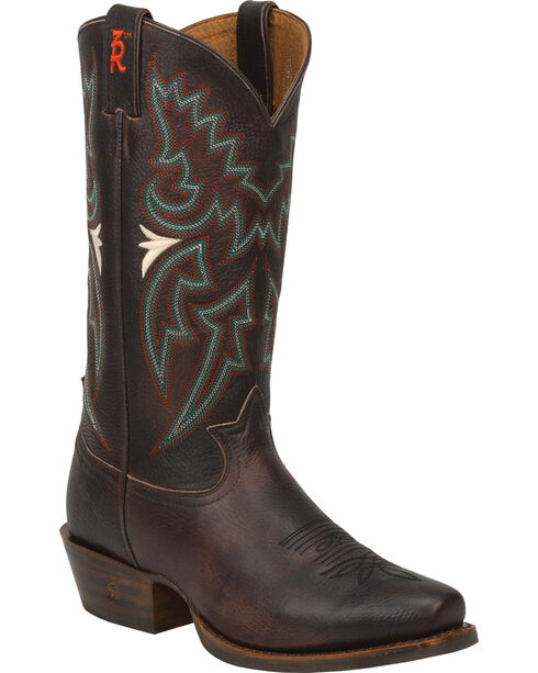 Tony Lama Men's 3R Western Boots, Chocolate, hi-res