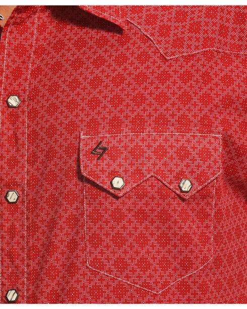 Garth Brooks Sevens by Cinch Print Pattern Western Shirt, Red, hi-res