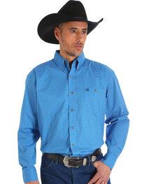 Wrangler Men's Printed Poplin Classic Button-Up Shirt - Tall, , hi-res