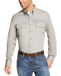Ariat Men's Silver Flame Resistant Long Sleeve Work Shirt - Big and Tall , , hi-res