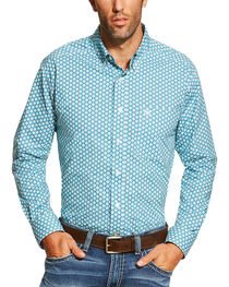 Ariat Men's Dotted Long Sleeve Shirt, , hi-res