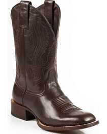Stetson Flynt Buffalo Calf Boots - Square Toe, Dark Brown, hi-res