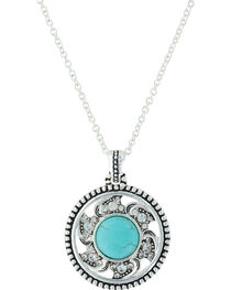 Montana Silversmiths Women's Tumbling Flower Medallion Necklace , , hi-res