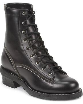 Chippewa Men's 1935 Original Black Mountaineer Logger Boots - Round Toe, Black, hi-res