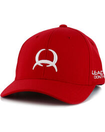 Cinch Men's Solid Red Logo Embroidery Ball Cap, , hi-res