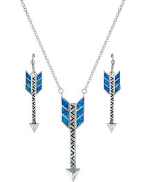 Montana Silversmiths Sky Fletched Arrow Jewelry Set , , hi-res