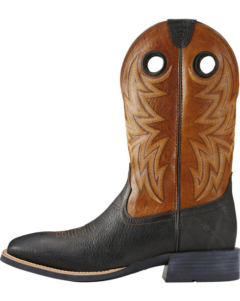 Ariat Men's Cowhorse Western Boots, Brown, hi-res