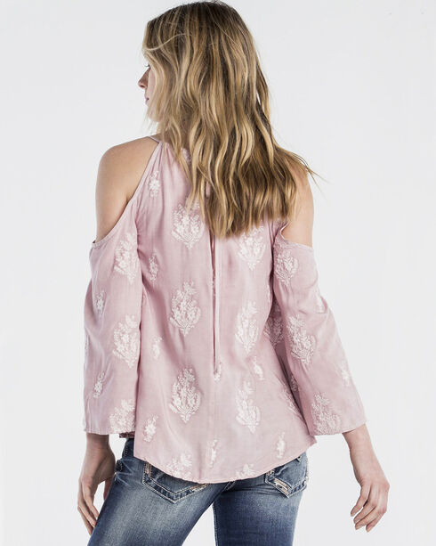 Miss Me Women's Only For You Bell Sleeve Top, Pink, hi-res