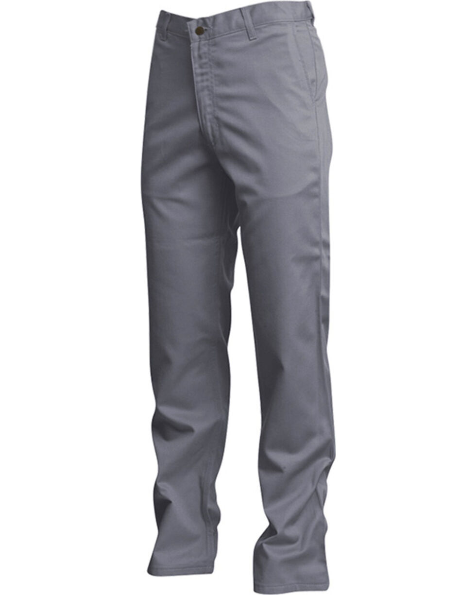 Lapco Men's Grey FR UltraSoft Uniform Pants - Straight Leg , Grey, hi-res