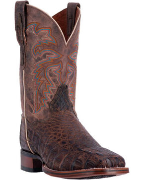 Dan Post Men's Denver Caiman Exotic Boots, Brown, hi-res