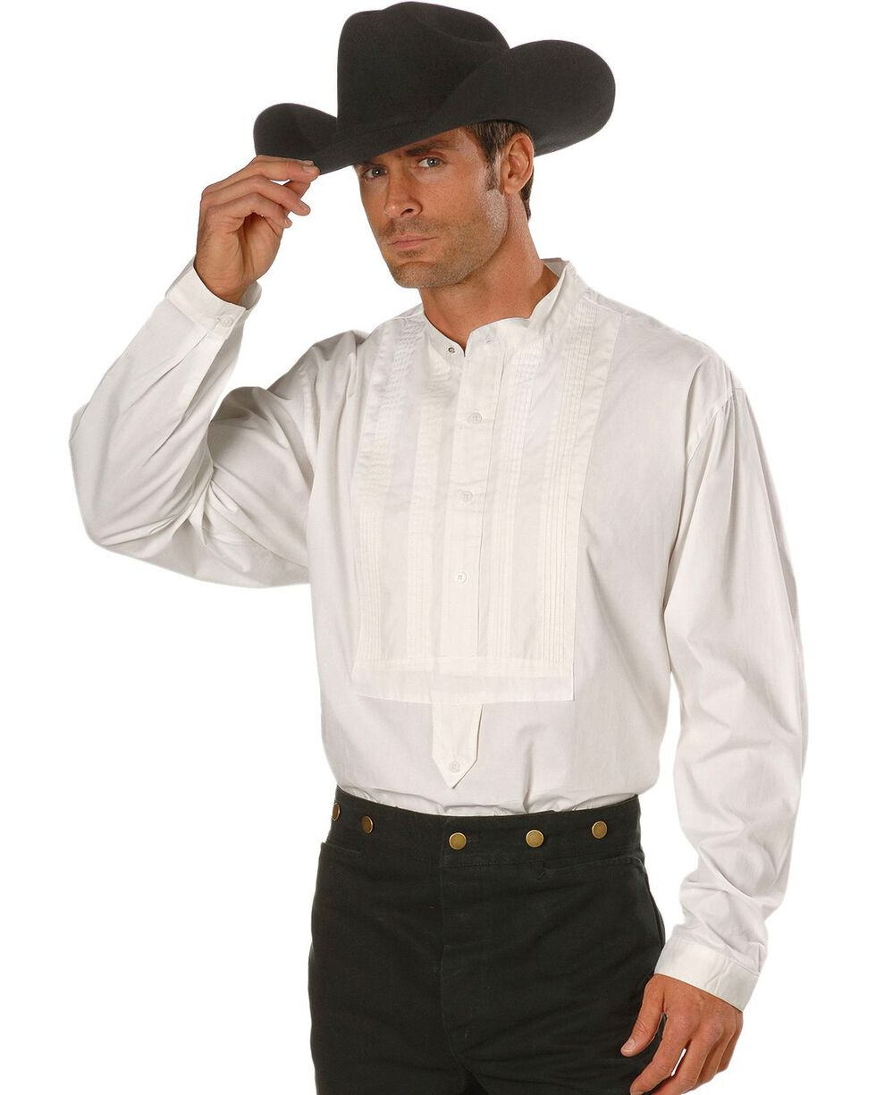 Scully Men's Range Wear Pleated Front Shirt, White, hi-res