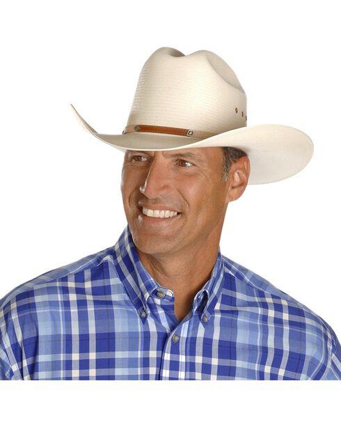 Stetson 10X Grant Straw Cowboy Hat, Natural, hi-res