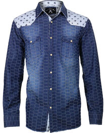 Rock Roll n Soul Men's Star Bombers Long Sleeve Shirt, , hi-res