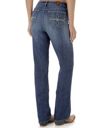Wrangler Aura Women's Mid Rise Jeans with Swirl Embroidered Pocket, , hi-res