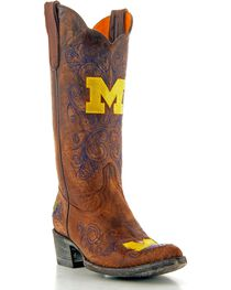Gameday University of Michigan Cowgirl Boots - Pointed Toe, , hi-res