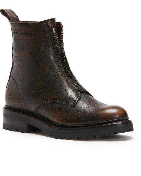 Frye Women's Cognac Julie Front Zip Boots - Round Toe, Cognac, hi-res