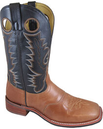 Smoky Mountain Men's Black Ryan Western Boots - Square Toe , , hi-res