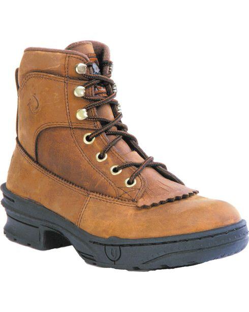 Roper Men's Crossrider Horseshoe Riding Boots, Rocky Brn, hi-res