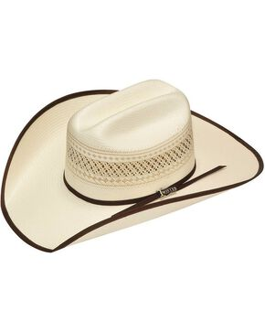 Twister 10X Shantung Double S Bound Brim Straw Cowboy Hat, Tan, hi-res