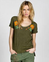 MM Vintage Olive Floral Affair Embroidered Shirt, , hi-res