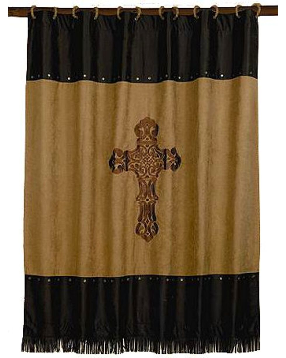 HiEnd Accents Crosses Shower Curtain, Multi, hi-res