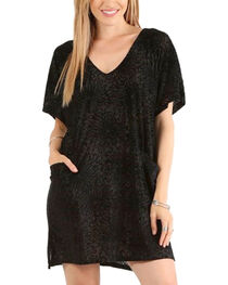 Mystree Women's Velvet Burnout Dress, , hi-res