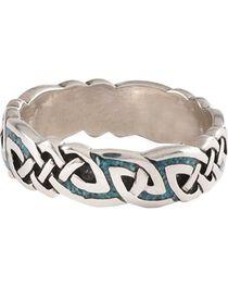 Unisex Celtic Turquoise Ring, , hi-res