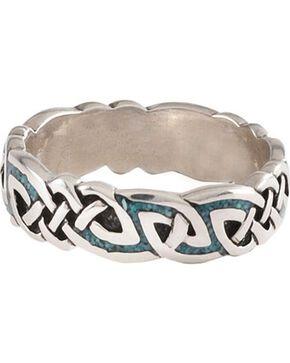 Unisex Celtic Turquoise Ring, Turquoise, hi-res
