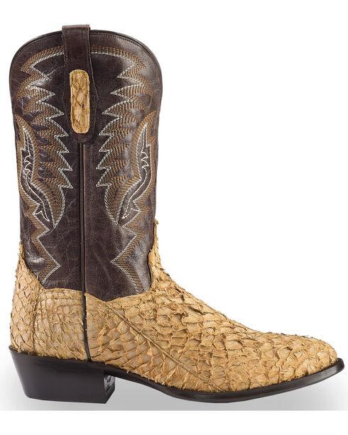 Dan Post Men's Sand Sea Bass Cowboy Boots - Round Toe , Sand, hi-res