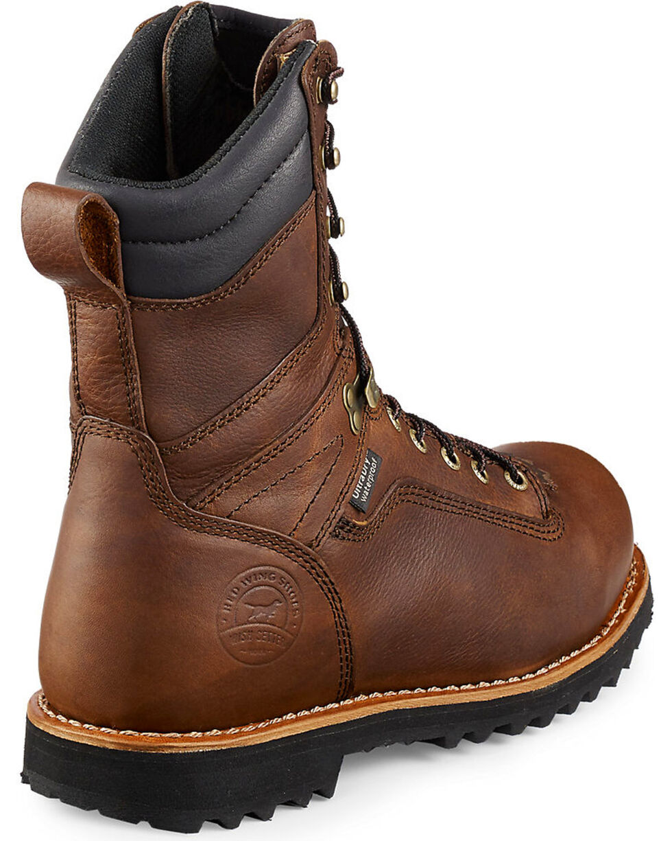Irish Setter by Red Wing Shoes Men's Mesabi Logger Work Boots - Aluminum Toe , Brown, hi-res