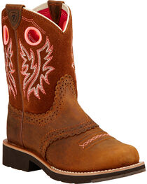 Ariat Youth Fatbaby Cowgirl Boots - Round Toe , , hi-res