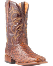 El Dorado Men's Full Quill Ostrich Stockman Boots - Square Toe, , hi-res