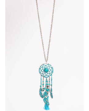 Shyanne Women's Dream Catcher Necklace, Turquoise, hi-res