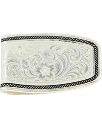 Montana Silversmiths Silver Softly Roped Money Clip , , hi-res